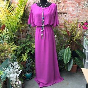Laundry by Shelli Segal purple dress